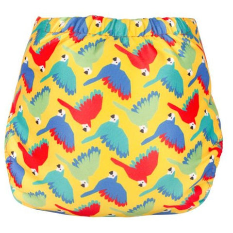 Image of TotsBots Swim Nappy - Bright Yellow Parrots