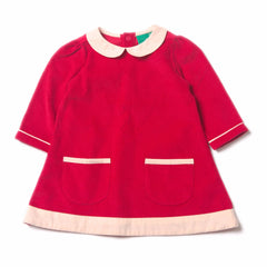 Raspberry Tunic Cord Dress - Organic Fairtrade Cotton