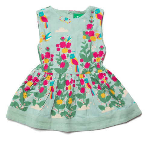 LGR Paradise Birds Gathered Dress