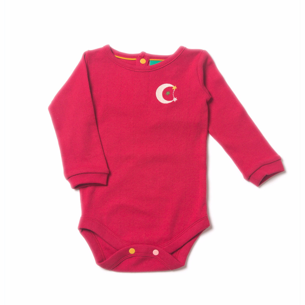 LGR Raspberry Pointelle Baby Body - Tilly & Jasper