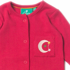 Organic Fairtrade Cotton - Raspberry Pointelle Babygrow