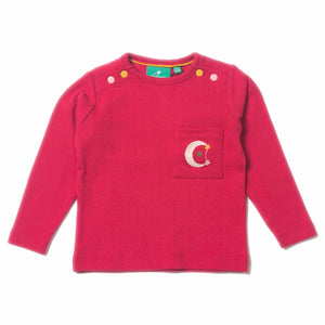 LGR Raspberry Pointelle Long Sleeve Tee - Organic Fairtrade Cotton