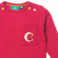 Raspberry Pointelle Long Sleeve Tee - Organic Fairtrade Cotton