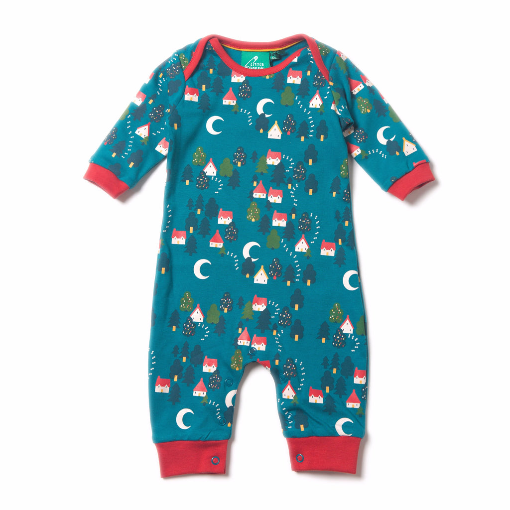 LGR Organic Fairtrade Cotton - Forest Footprints Playsuit