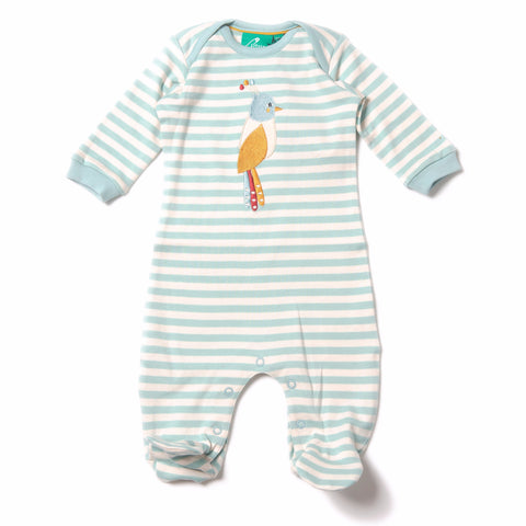 Organic Fairtrade Cotton - Paradise Bird Appliqué Babygrow