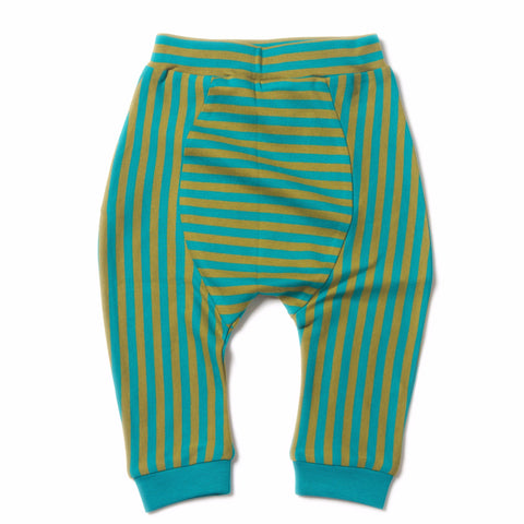 Peacock Stripe Jelly Bean Jogger - Organic Fairtrade Cotton