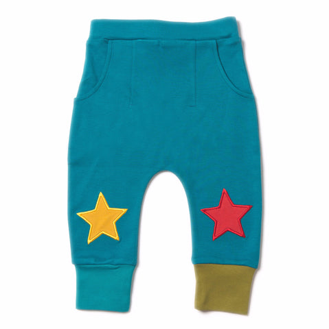 Midnight Blue Star Jogger - Organic Fairtrade Cotton