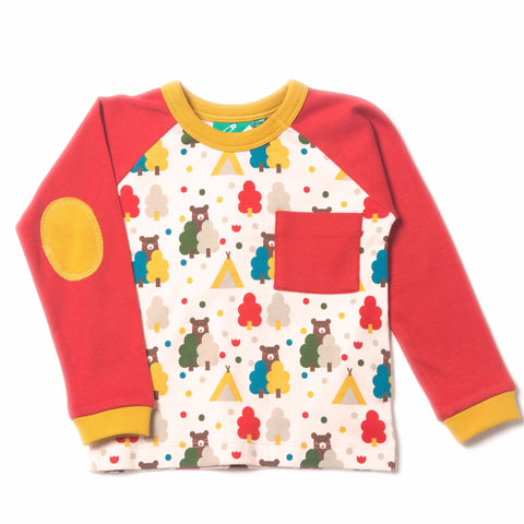 Red Bear Necessities Raglan Top - Organic Fairtrade Cotton