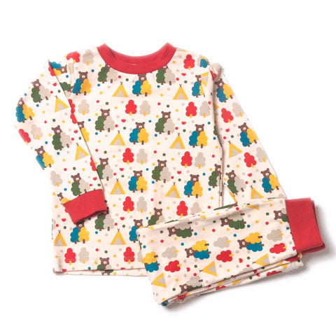 Image of Organic Fairtrade Cotton - The Bear Necessities PJ's
