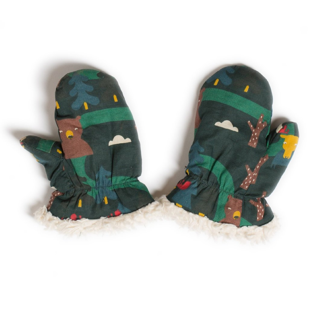 LGR Mittens - Nordic Forest - Organic Cotton