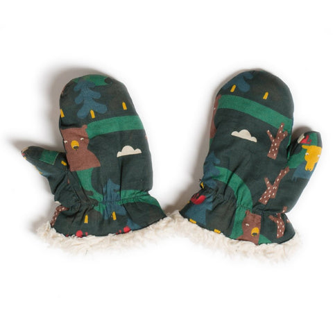 Image of LGR Mittens - Nordic Forest - Organic Cotton