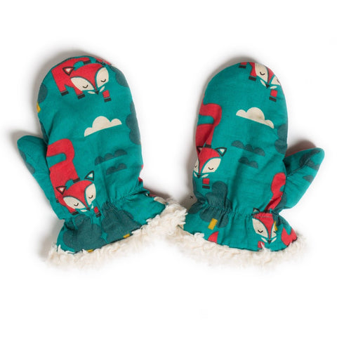 LGR Mittens - Winter Fox - Organic Cotton