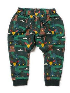 LGR Lined Jelly bean Joggers - Nordic Forest - Organic Cotton