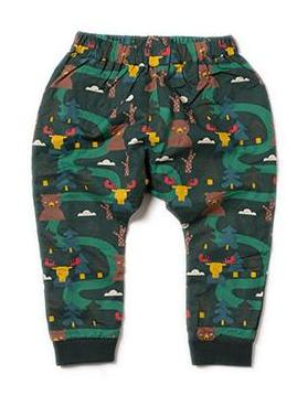 Image of LGR Lined Jelly bean Joggers - Nordic Forest - Organic Cotton