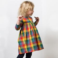 Image of LGR Smock Dress - Autumn Leaves  - Organic Cotton