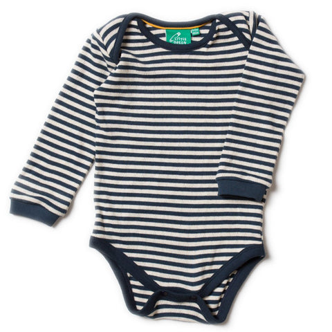 LGR Pointelle Body - Navy Stripe