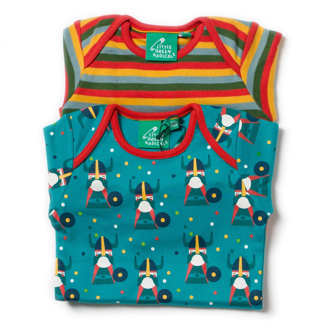 LGR Two Pack Baby Body Set - Nordic Vikings - Organic Cotton