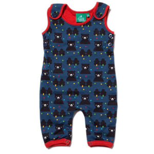 LGR Dungarees - Winter Bear  - Organic Cotton