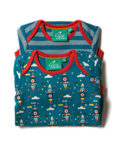 LGR Baby Body 2 Pack Set - Night Sky Rockets