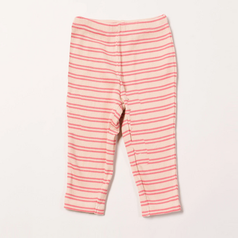 LGR Sugar Pink Stripes Forever Rib Leggings