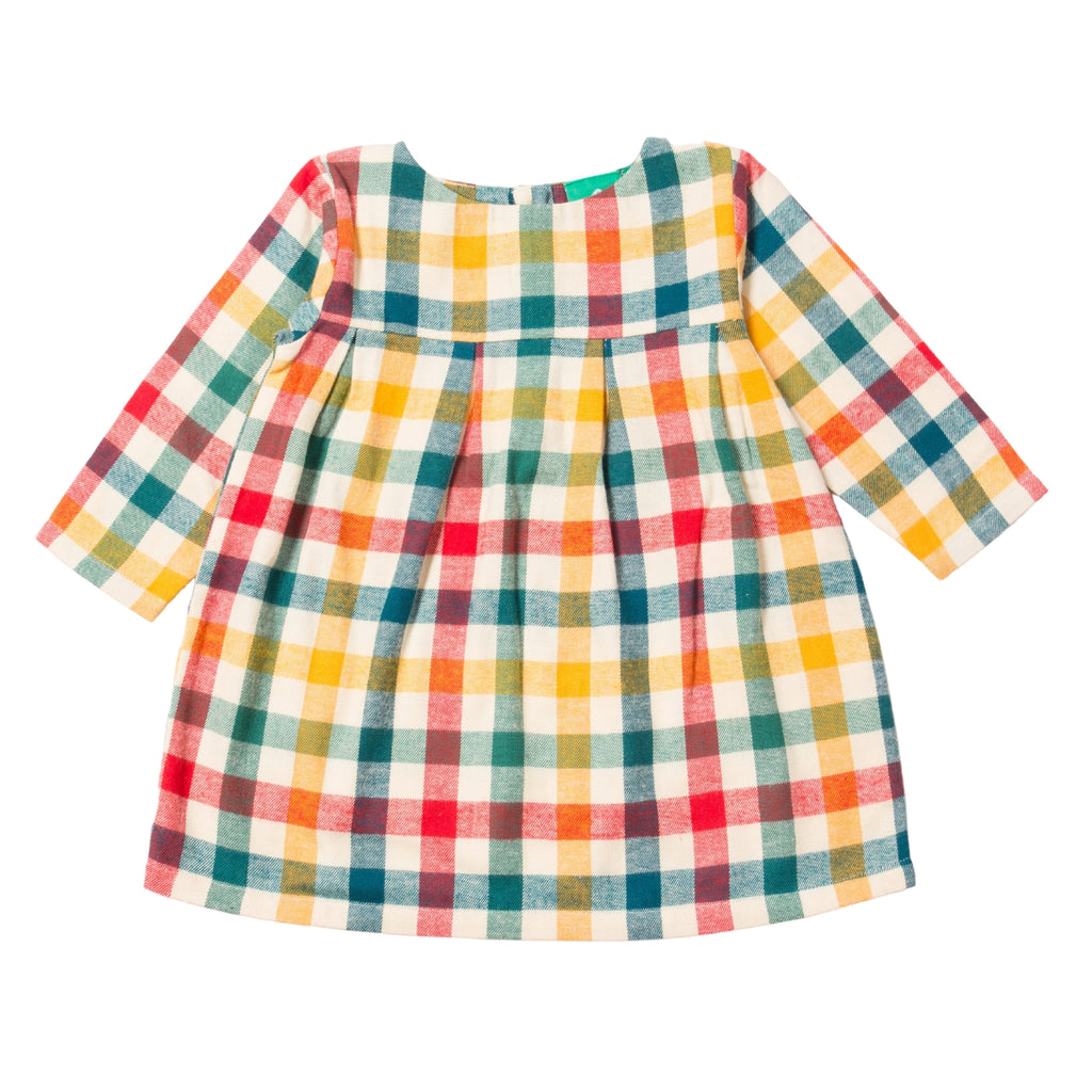 LGR Autumn Rainbow Check Smock Dress