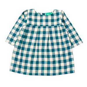 LGR Winter Blue Check Smock Dress