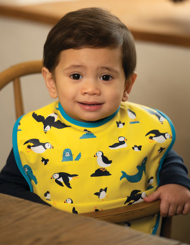 Image of Frugi Spick and Span Bib - Sunflower Puffling Away