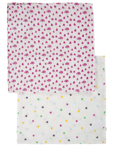Frugi Lovely 2 Pack Muslin - Mushrooms Multipack