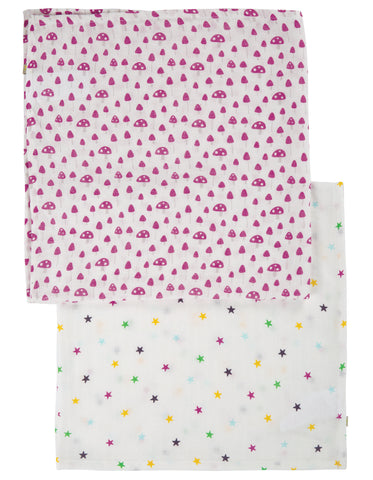 Image of Frugi Lovely 2 Pack Muslin - Mushrooms Multipack