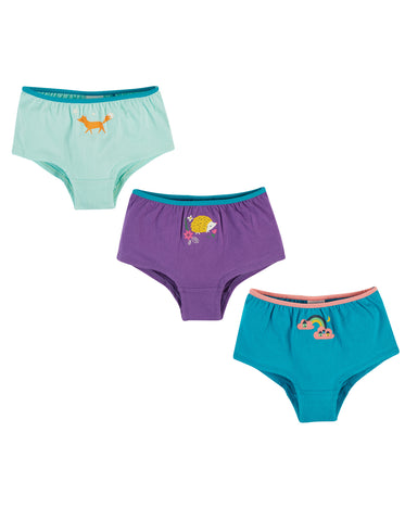 Image of Frugi Georgia Girl Shorts - Animal Multipack