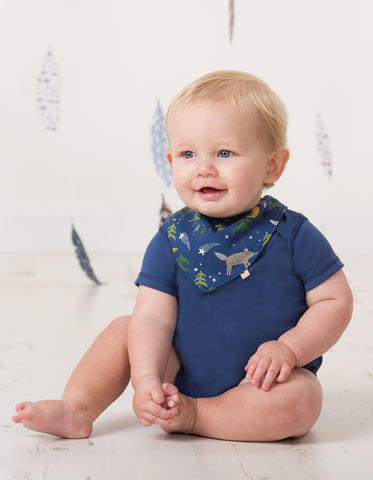 Frugi Dribble Bib - Moonlit Night