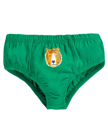 Image of Frugi Barney Printed Brief - Jade/Tiger - Tilly & Jasper