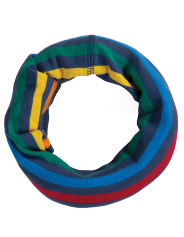 Image of Frugi Cosy Rib Snood - Rainbow Stripe - Tilly & Jasper