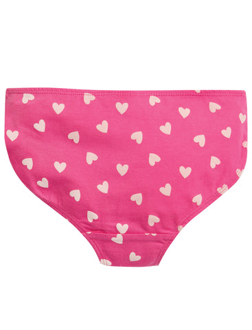 Frugi Polly Printed Briefs - Flamingo Hearts