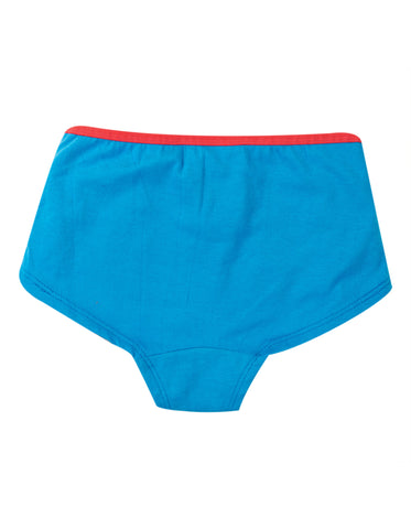Image of Frugi Georgia Girl Shorts - Motosu Blue/Unicorn
