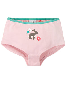 Frugi Georgia Girl Shorts - Soft Pink/Bunny