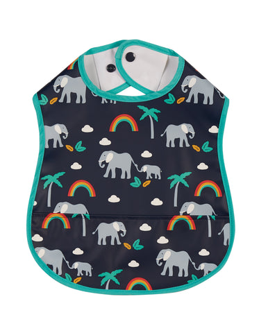 Frugi Spick and Span Bib - Indigo Rainbow Walks