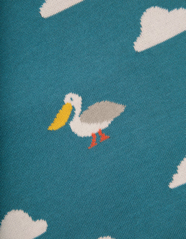 Frugi Welcome Home Blanket - Rockpool Pelicans