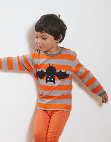 Toby Tiger Organic Bat Applique LS T-Shirt
