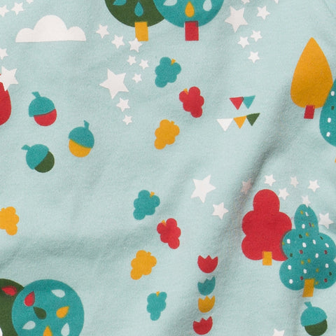Organic Fairtrade Cotton - Falling Leaves PJ's