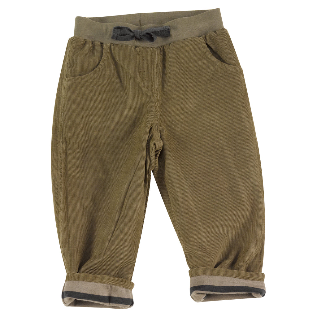 Pigeon Organics - Lined Cord Trousers - Olive