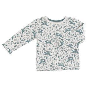 Pigeon Organics Long Sleeve T-shirt - Blue Hares