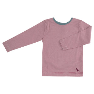 Pigeon Organics Long Sleeve T-Shirt (Fine Stripe) - Fig