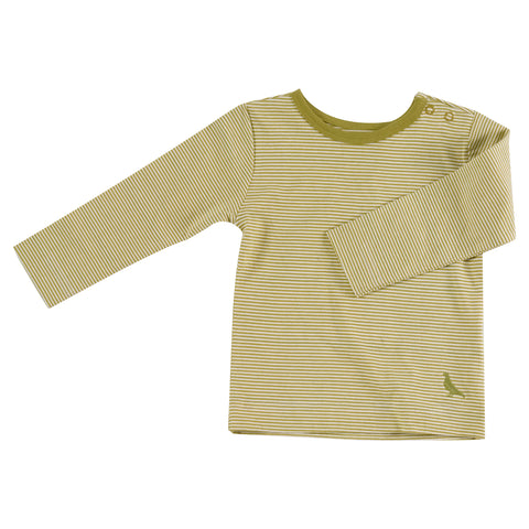 Pigeon Organics Long Sleeve T-Shirt (Fine Stripe) - Willow