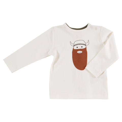 Image of Pigeon Organics Long Sleeve T-shirt - Viking on White