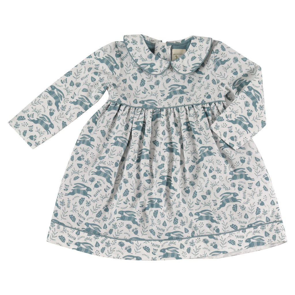 Pigeon Organics Pretty Dress - Blue Hares