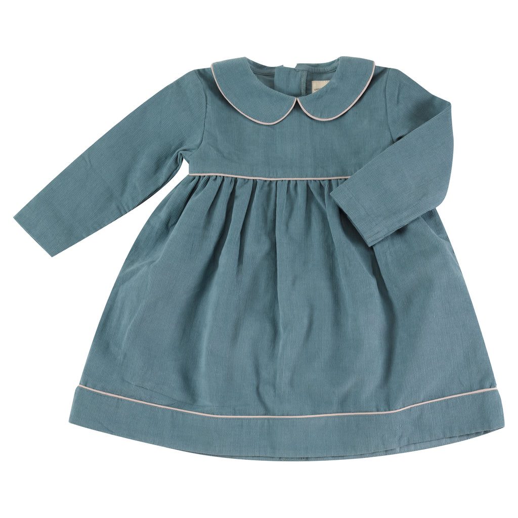 Pigeon Organics Pretty Cord Dress - Smoke Blue