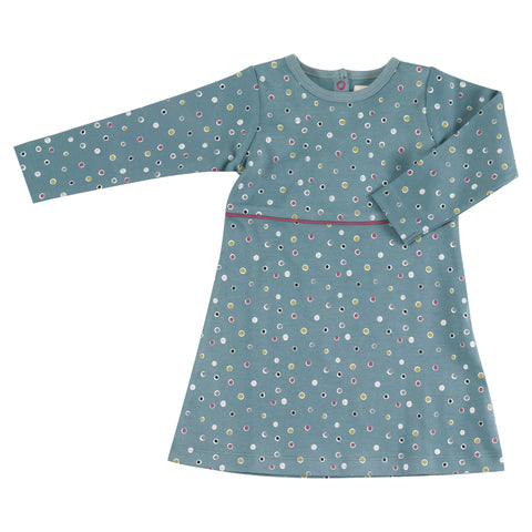 Pigeon Organics Skater Dress - Spots on Blue