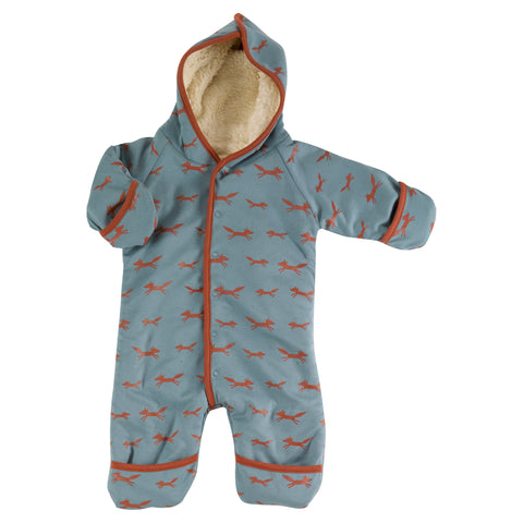 Pigeon Organics - Snuggle Suit - Foxes on Blue