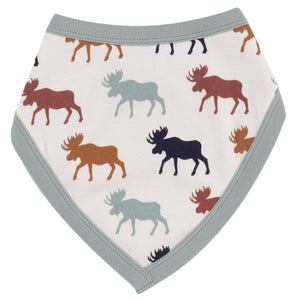 Pigeon Organics Reversible Bib - Multicolour Moose